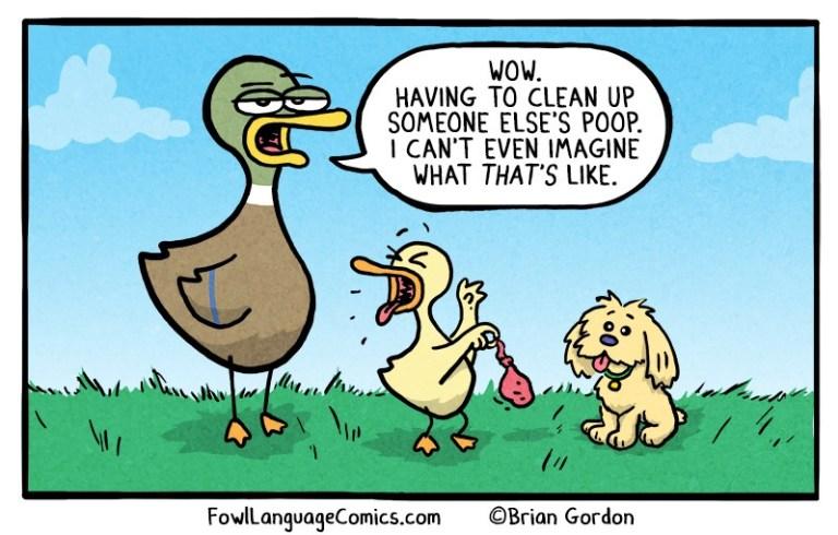 Fowl Language Comics — Before the Dog Bonus Panel