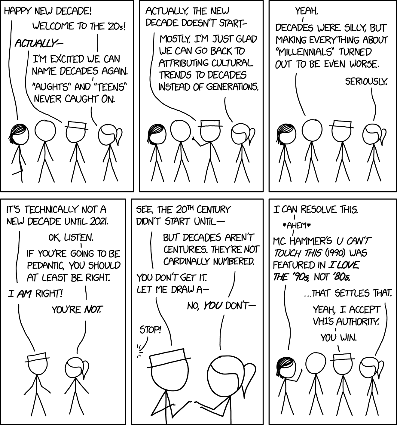 XKCD — I Love the 20s