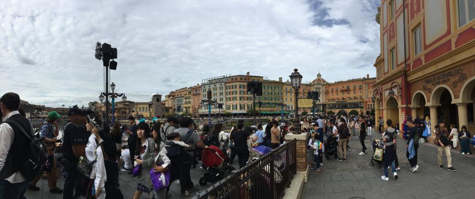A Sea of People at Tokyo DisneySea