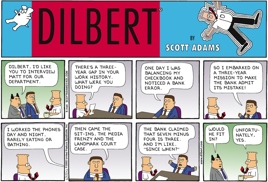 Dilbert — Three Years