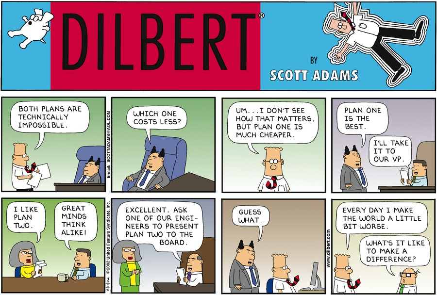 Dilbert — Technically Impossible
